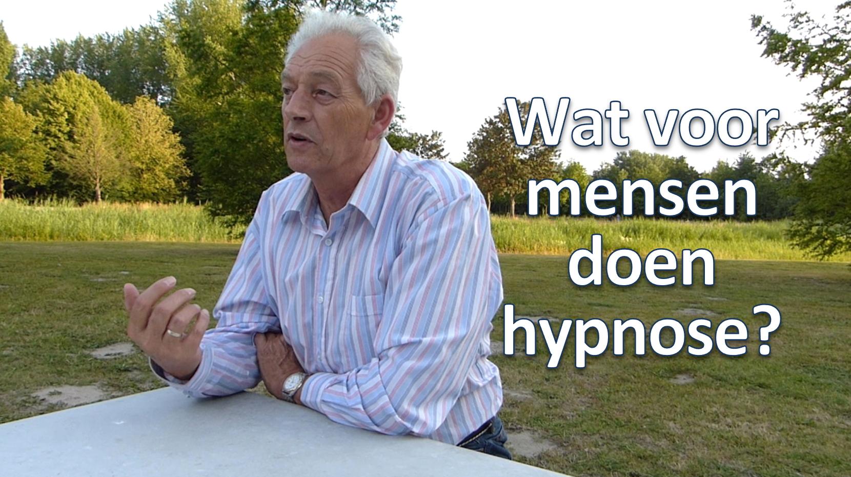 Wat voor mensen doen hypnose?